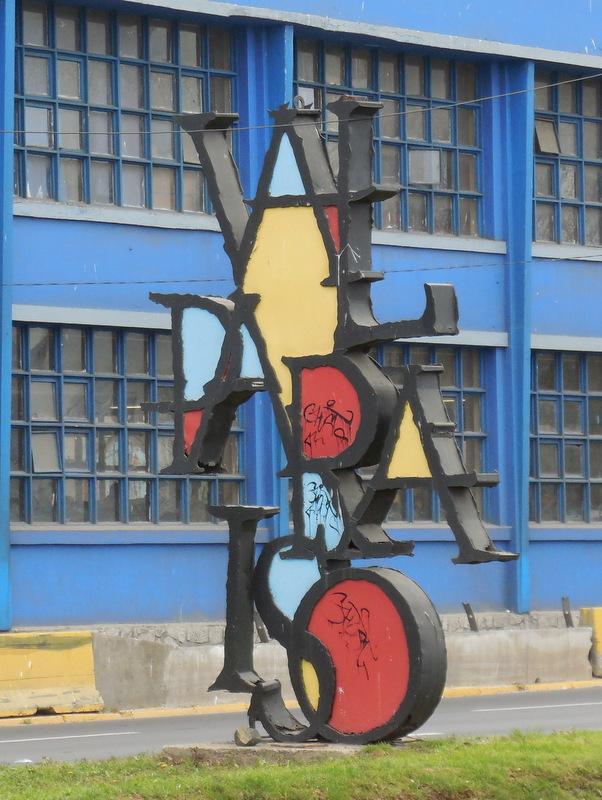 Valparaiso city sign