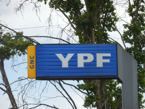 We stop at a lot of YPF stations