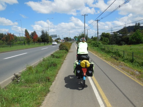 Bike path in Temuco