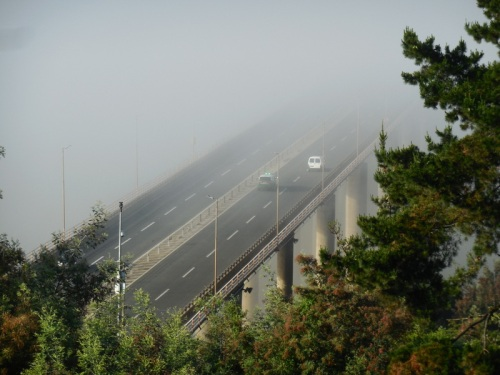 Bridge in fog 2