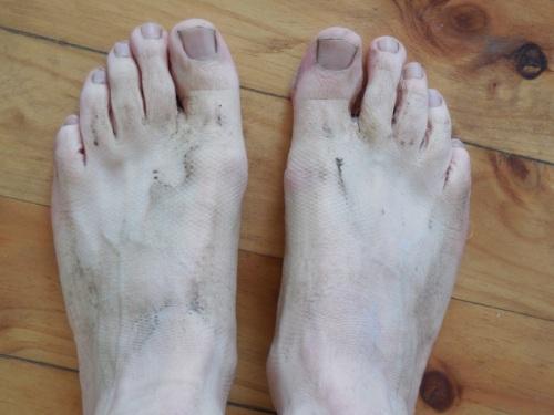 Dave's dirty feet