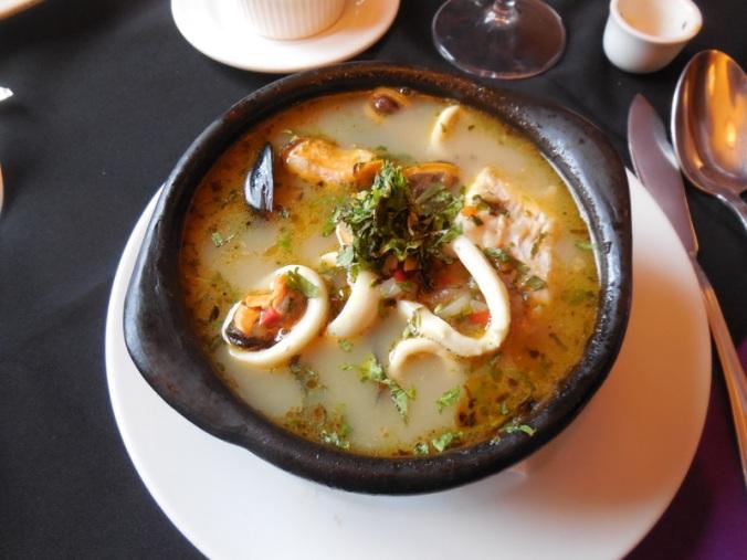 Fish stew dinner