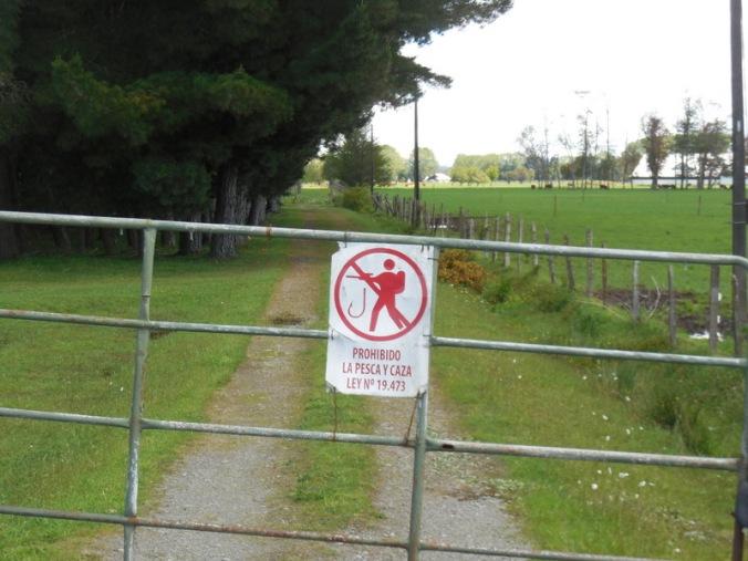No fishing or hunting