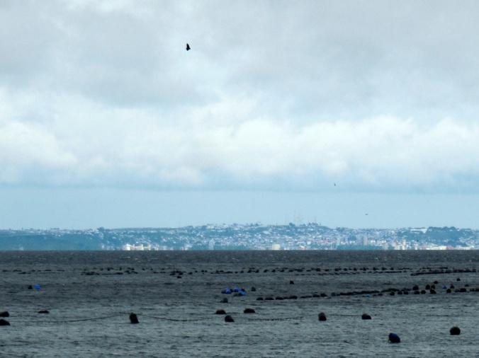 Puerto Montt in the distance