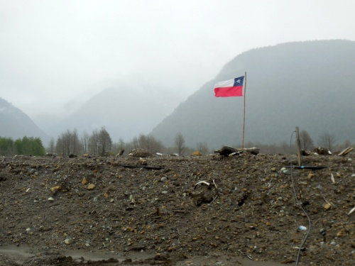 Slide damage - flag still standing 2