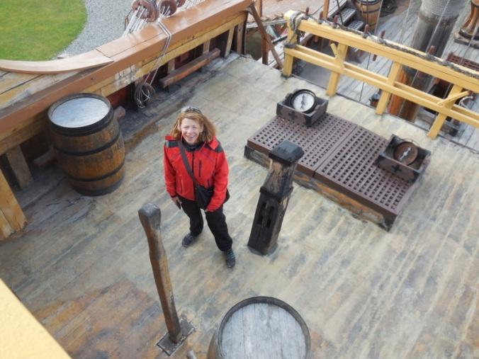 Nancy on Magellan's ship