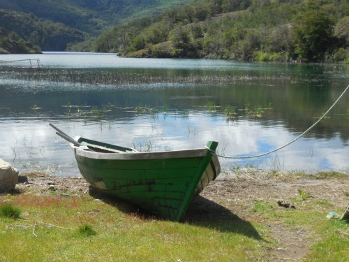 Boat on camp lake