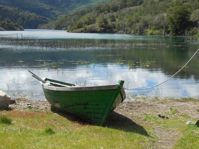 Boat on camp lake