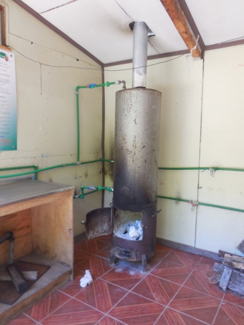 Hot water heater - we used it