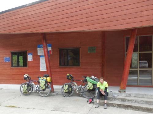 Puerto Yungay ferry building