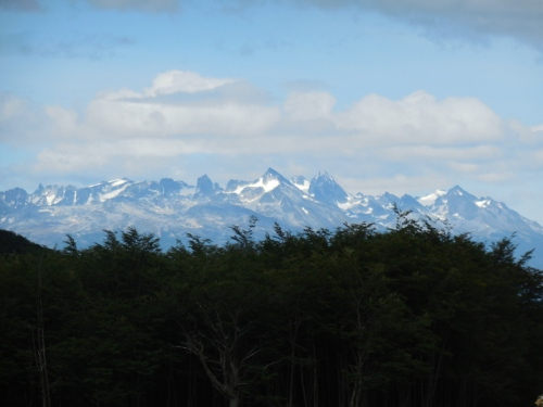 mountains over ushuaia