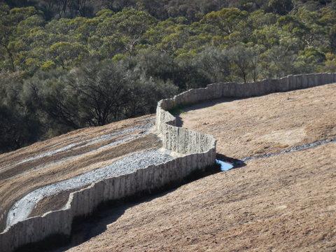Wave Rock catchment fence 3