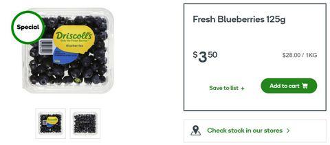 Australian berries Woolworths