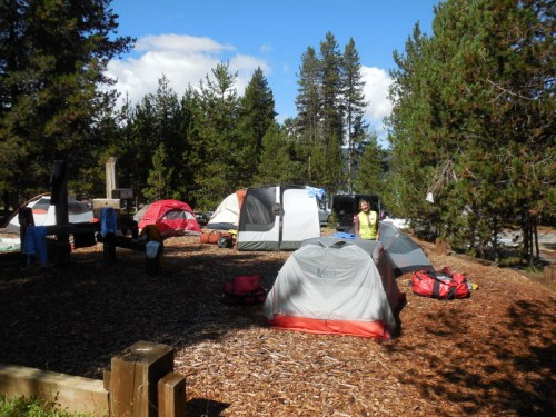 Camp in the sun