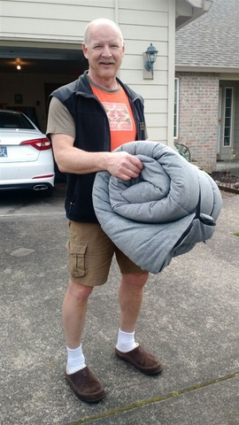 Chris and his not-so-lite bag