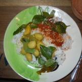My dish, Nancy's already eaten