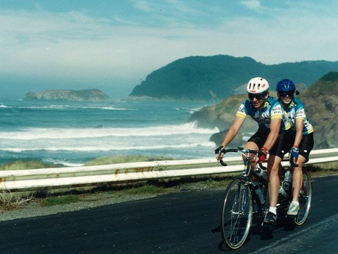 Us in 1994 - on the tandem