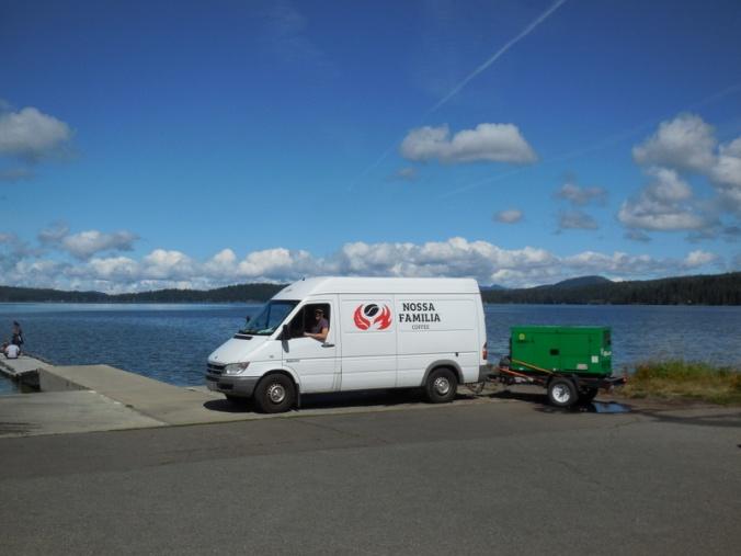 Van on the lake 1