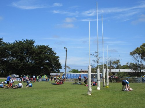 Footy pitch lunch stop