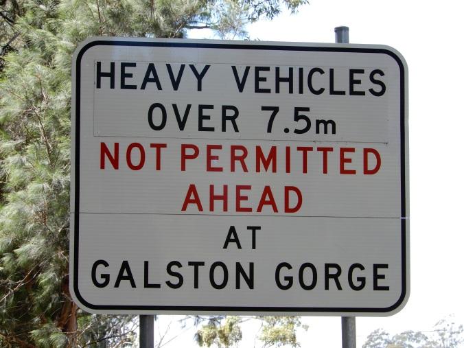 Galston Gorge warning