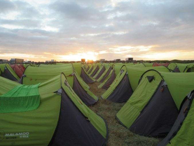 Sunrise at camp