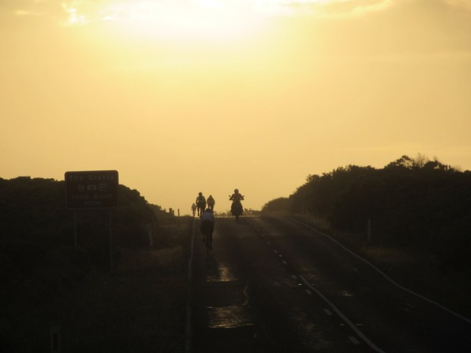 Sunrise on the road 1