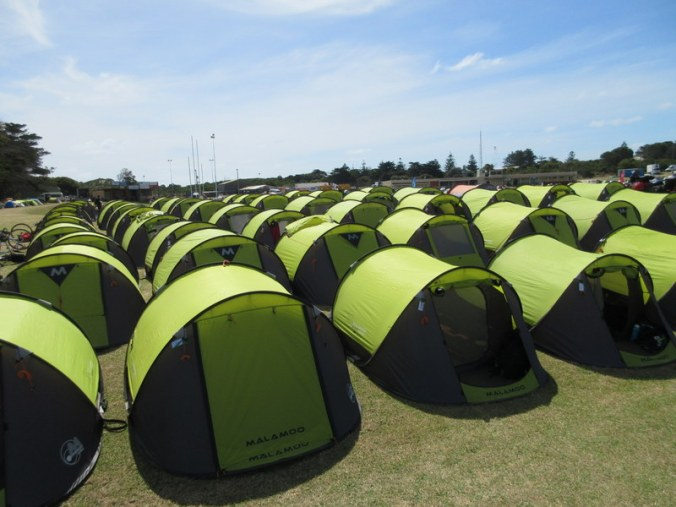 Tent city for the vollies