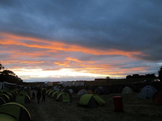 Sunset on our last GVBR camp