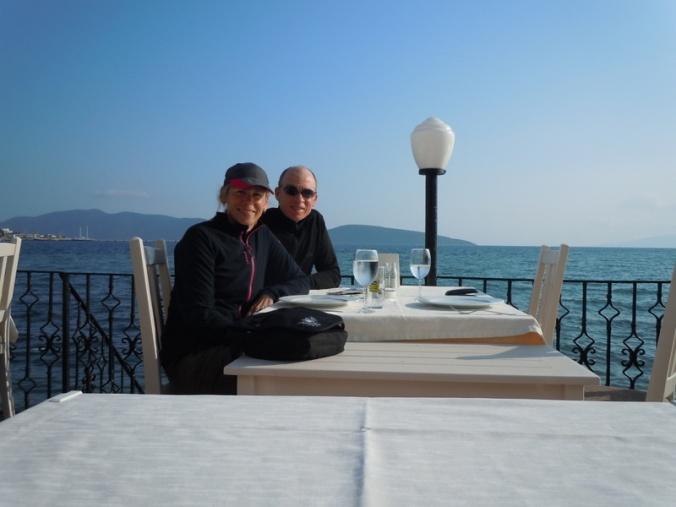 Aegean Sea dinner - Us