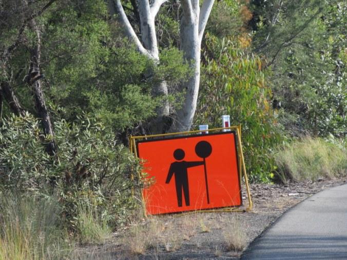 Aussie lollypop sign