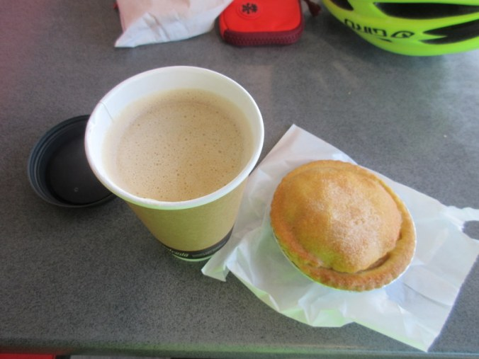 Bakery - ordinary pie and average coffee