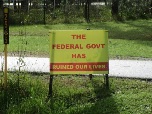 It has to be the government's fault 1