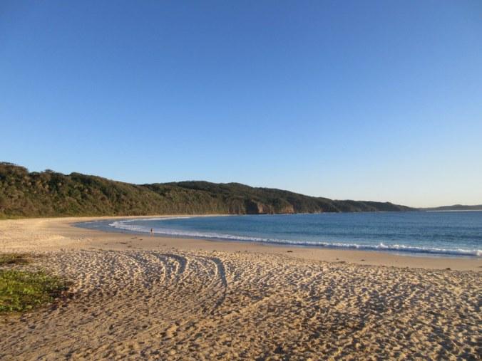 Seal Rocks Beach in the morning