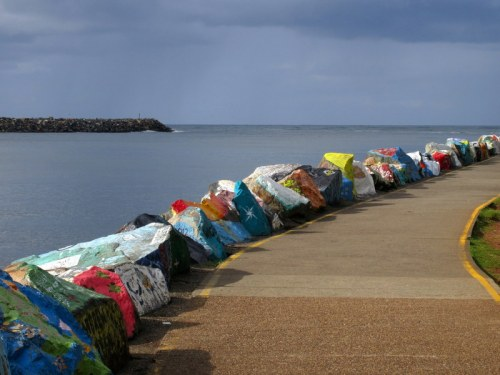 Waterfront art rocks wall 2
